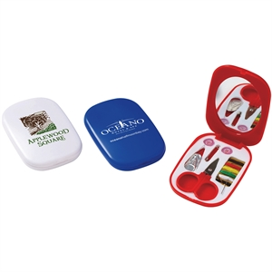 Compact sewing kit with