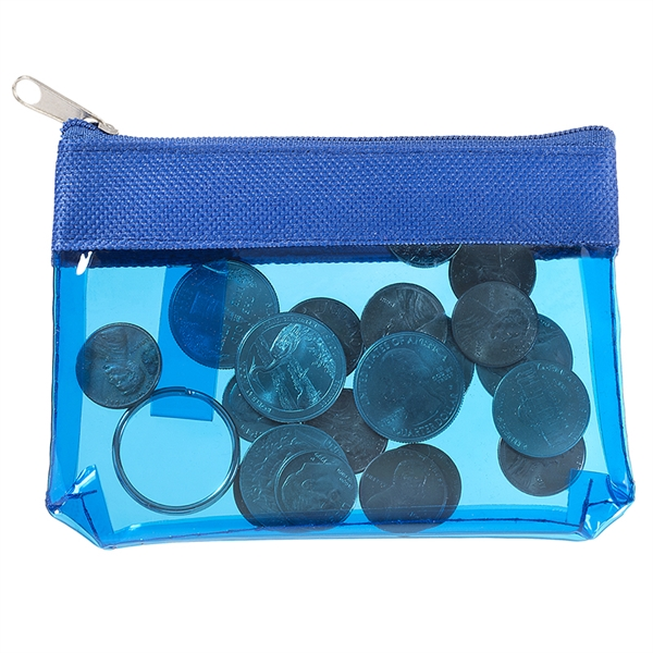 Zippered PVC ID pouch