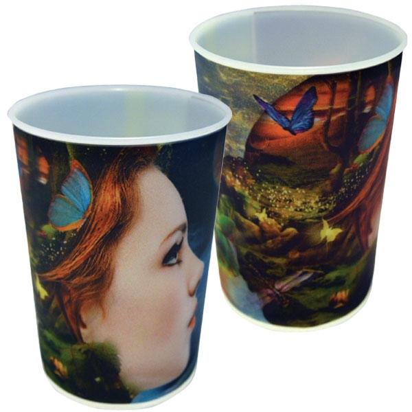 22 oz. lenticular cup.