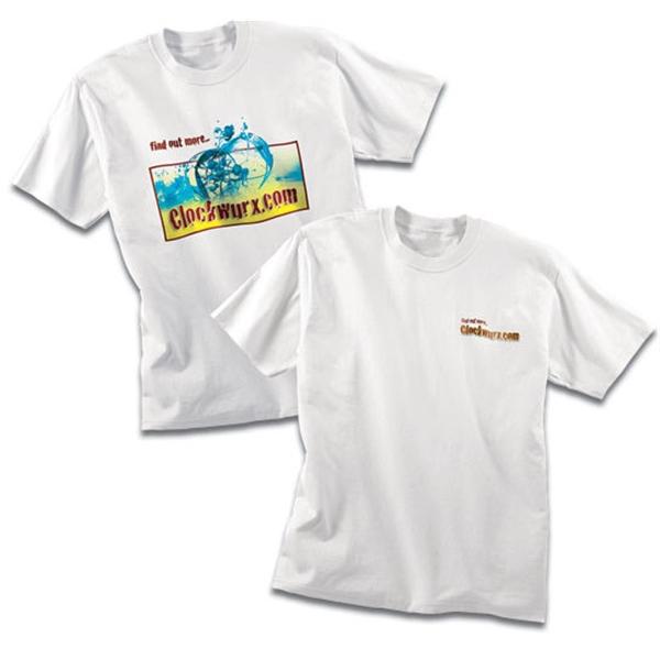 100% cotton white T-shirt