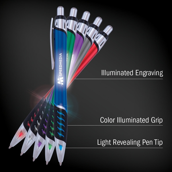 Click pen with light
