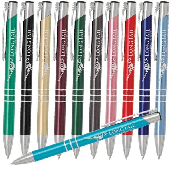 Retractable ballpoint pen featuring