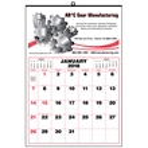 Mini 12-month wall calendar
