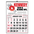12-month wall calendar with