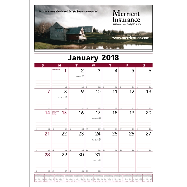 12-month commercial wall calendar