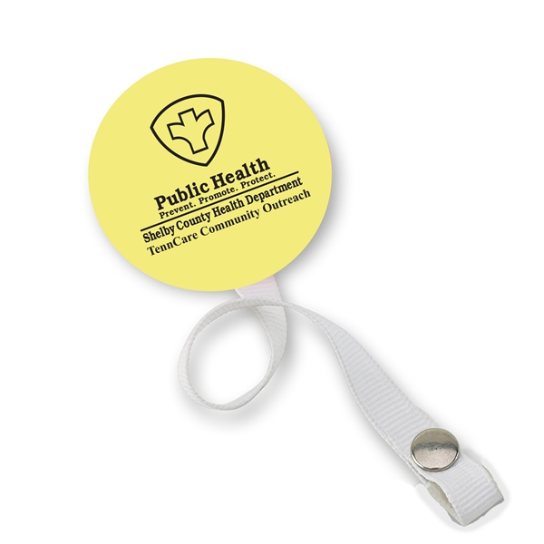 Pacifier holder with disk