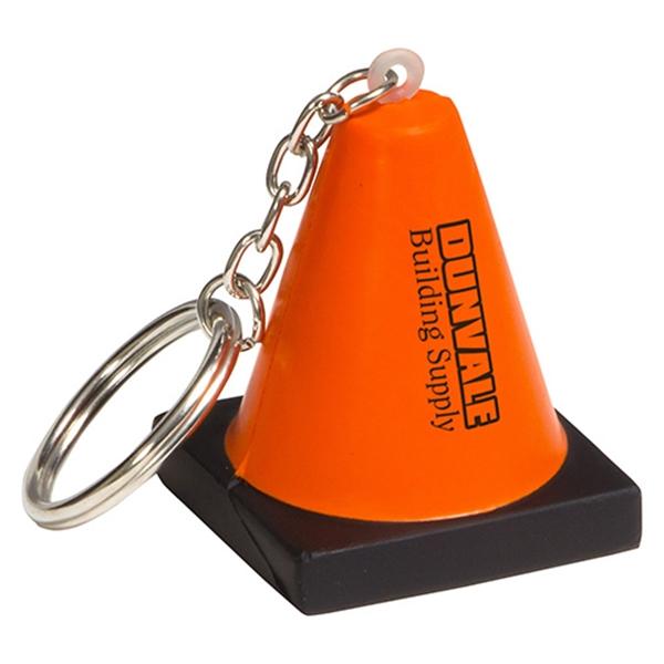 Construction cone key chain