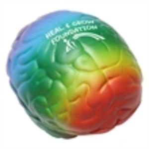 Rainbow color brain shape