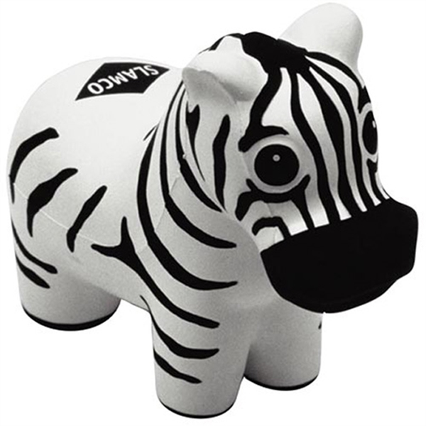 Zebra-shaped stress reliever.