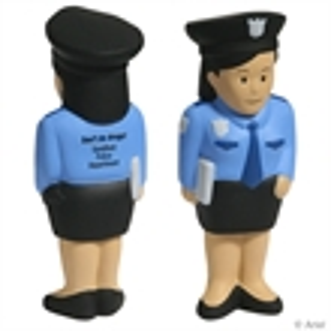 Polyurethane police woman.