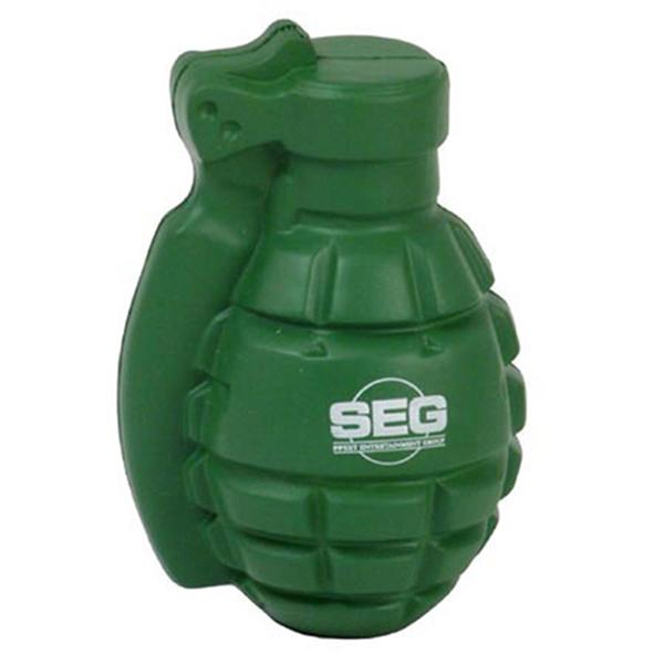 Grenade shape stress reliever.