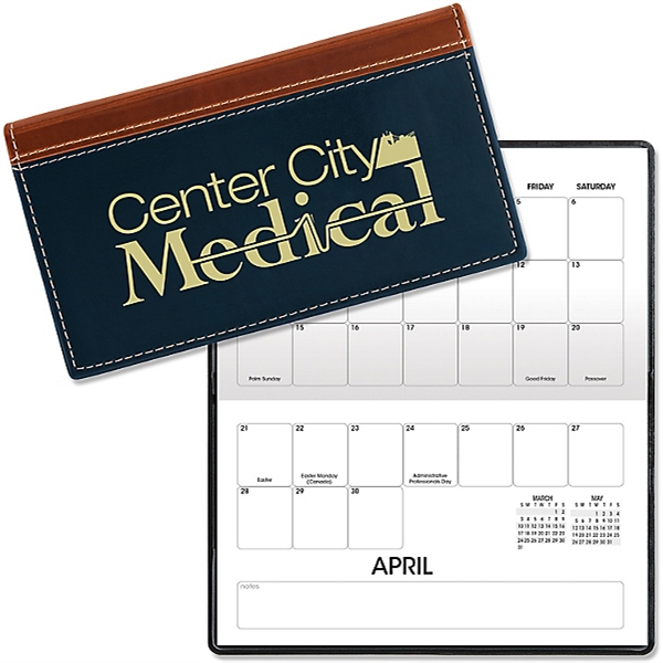 Monthly calendar and notepad