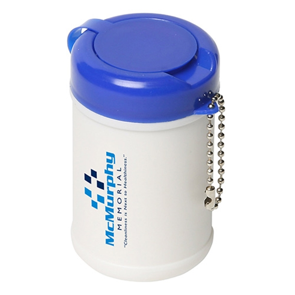 Sanitizer wipes in canister