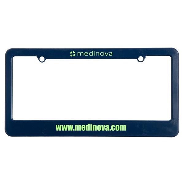 License plate frame. 2