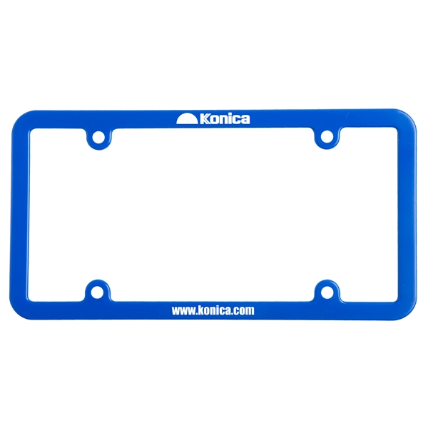 License plate frame with