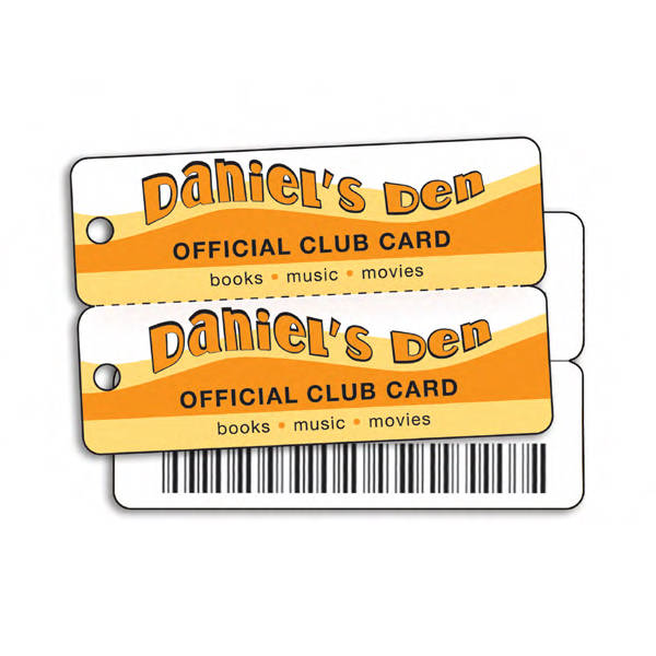Plastic double key tag
