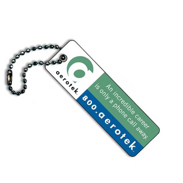 Plastic long key tag