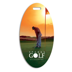 Plastic oval golf bag