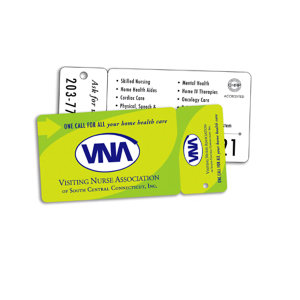 Plastic standard card with