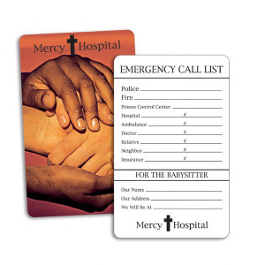 Plastic medical information card
