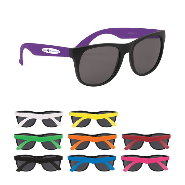 Rubberized sunglasses made of