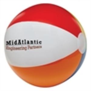 Multi-color beach ball.