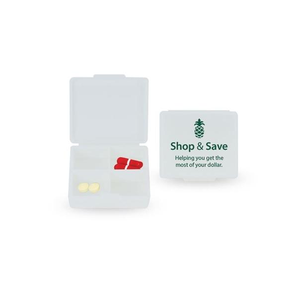 Four-a-day pill box allows