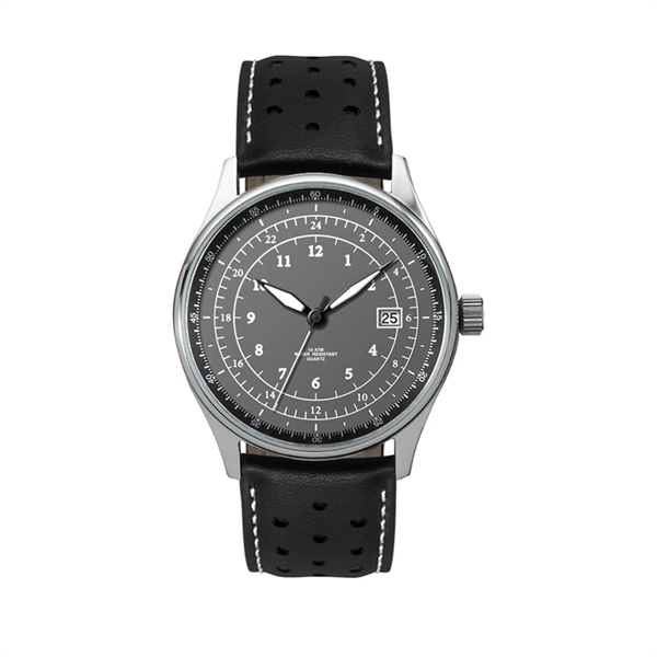 Brushed stainless steel watch