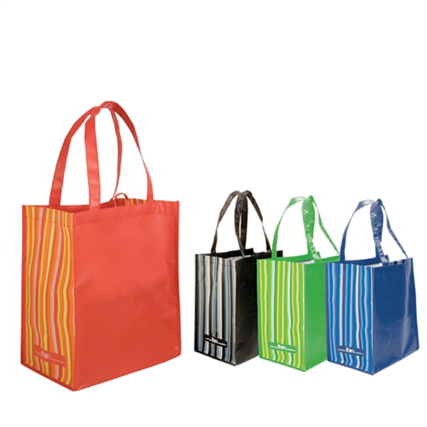 Blank, RPET Striped Tote