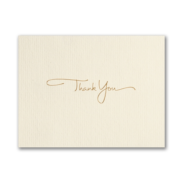 Golden Thank You card