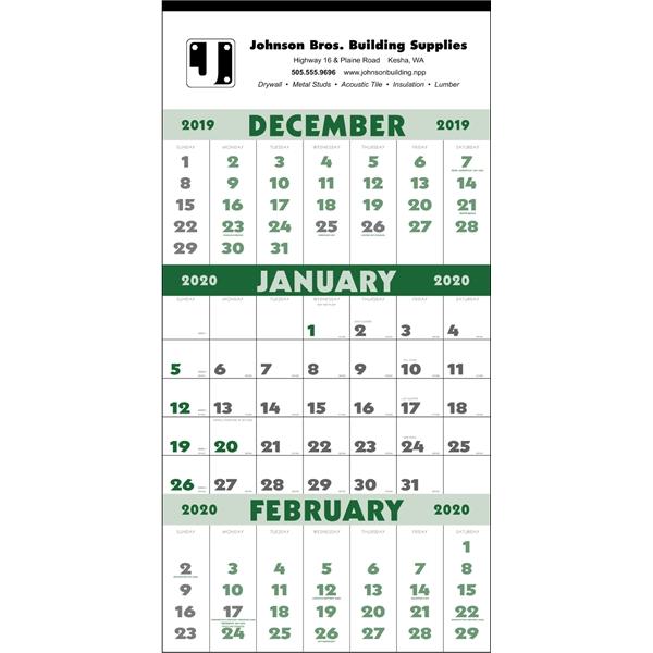 3-Month Planner 2020 Calendar