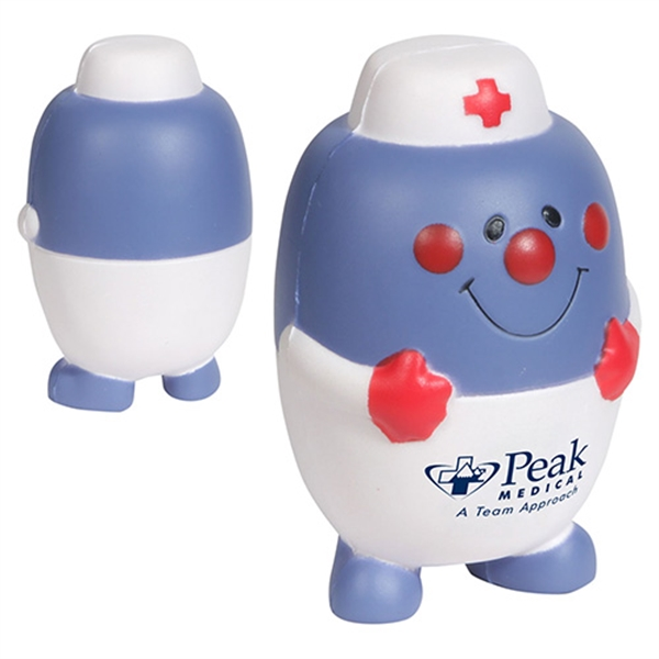 Pill nurse character shape