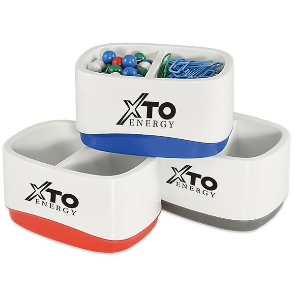 Plastic desk accessory caddy