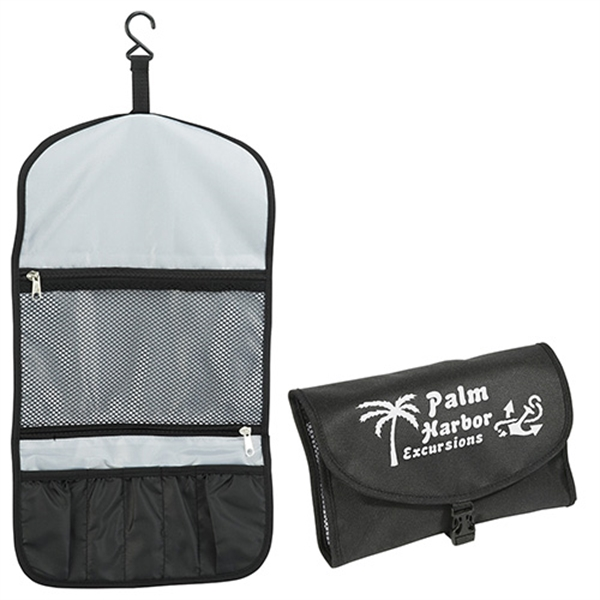 Foldable toiletry bag with