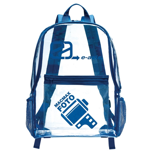 Clear PVC backpack with