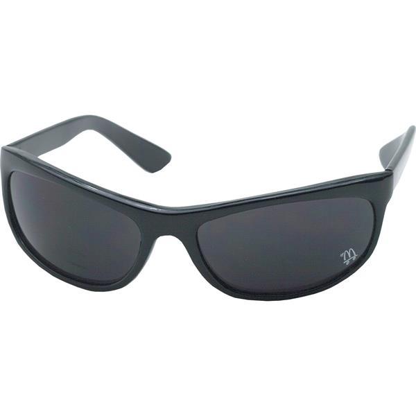 Wraparound sunglasses with shiny
