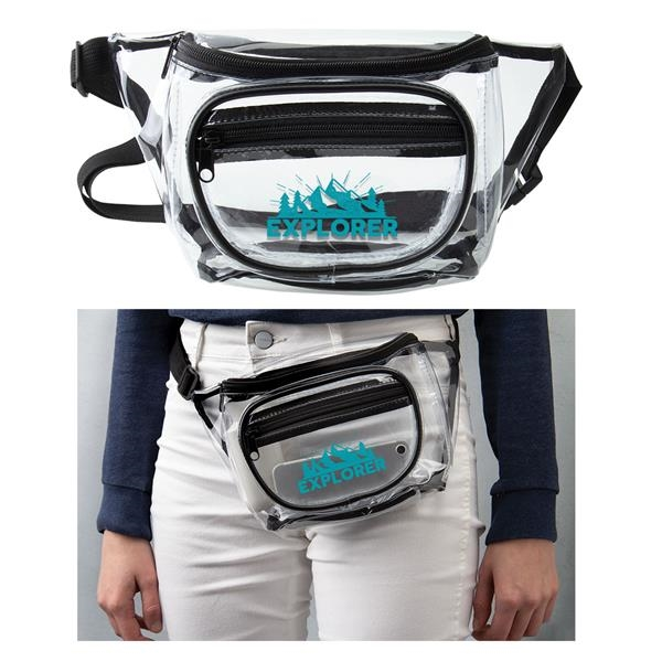 Clear fanny pack with