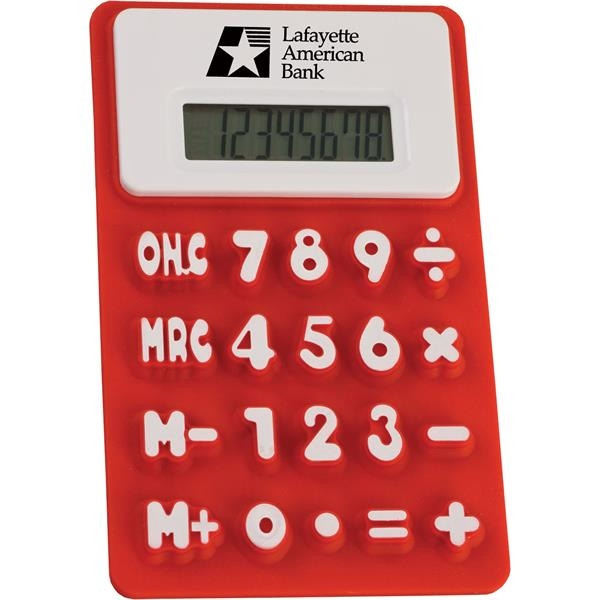 Flexible, soft calculator with