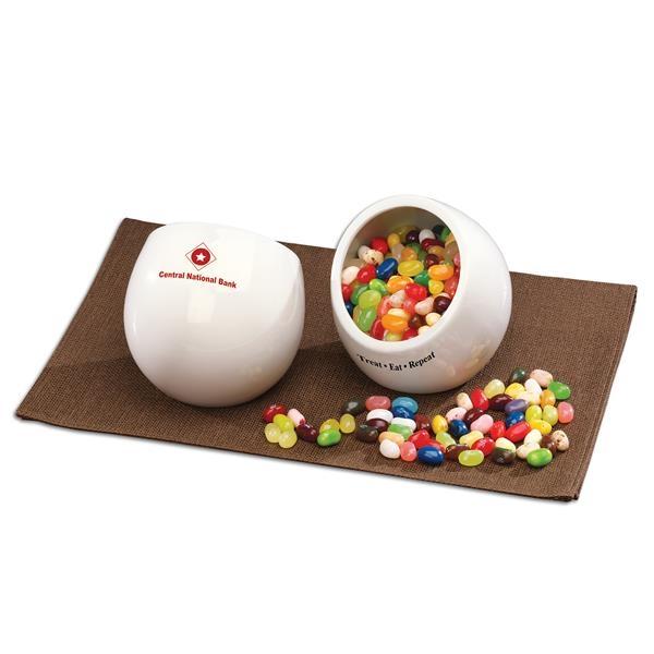 white tilt candy dish
