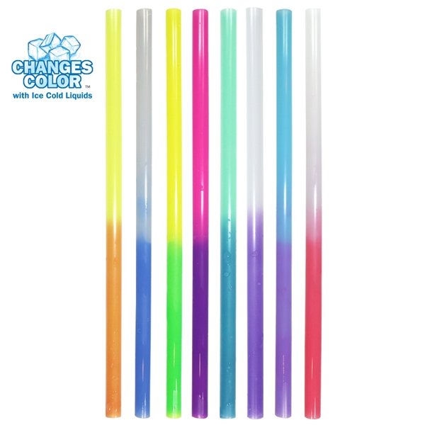 Blank straw that changes