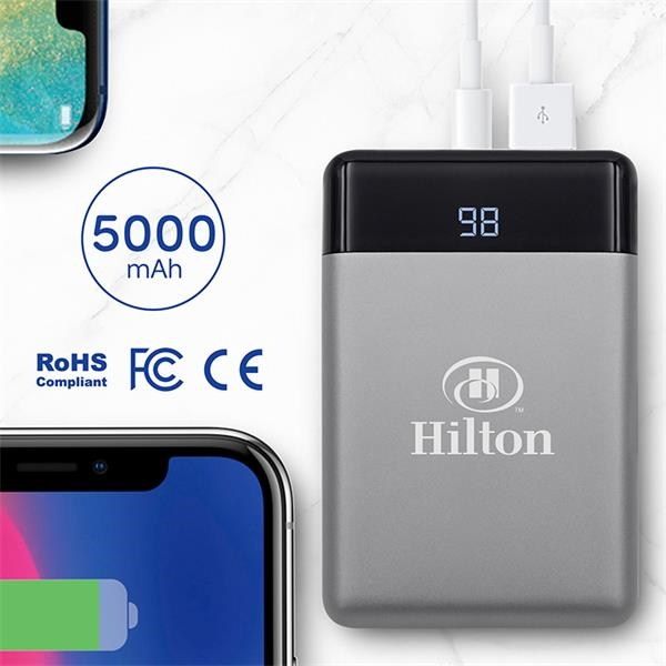 Portable battery charger that