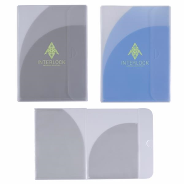 Two-pocket folder with tuck