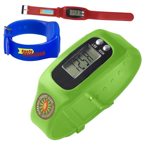 Adjustable digital watch pedometer.