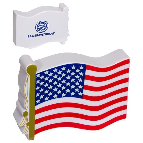 USA flag shape stress