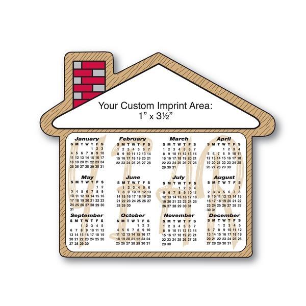 House shaped magnetic calendar