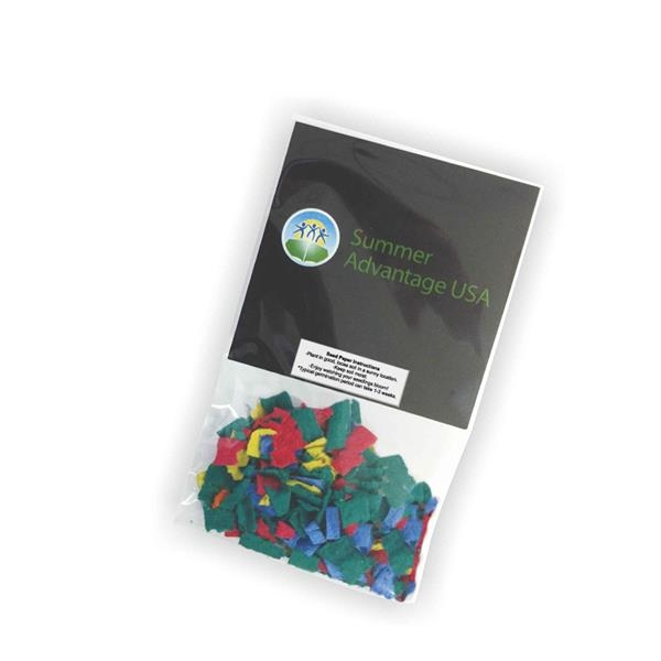 Wildflower seed confetti packets.