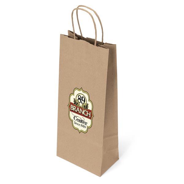 Eco kraft wine bag.