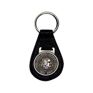 Designer leather saddle key