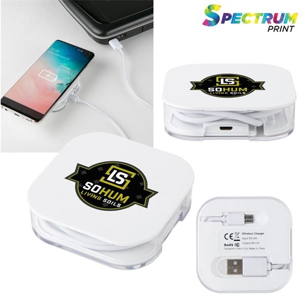 Wireless charging pad with