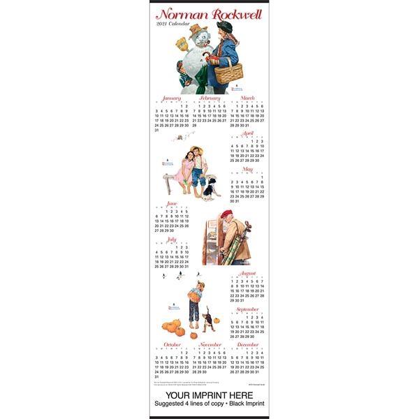 Norman Rockwell Scroll calendar